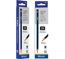 Bazic Premium Quality Pencil 2B (12/Pack)