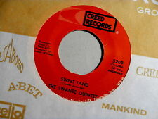 SWANNE QUINTET~SWEET LAND~NEAR MINT~JESUS KEEP ME NEAR THE CROSS~~ GOSPEL 45