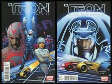 Tron Original Movie Adaptation Comic Set 1-2 Lot cool art prequel to Tron Legacy