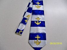 U.S.N., U.S Navy, sailor, Naval, Officer, Enlisted Military Men's necktie #7 NEW