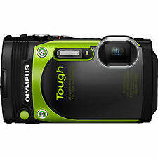 "Olympus TG-870 Tough Waterproof 16MP Green Digital Camera w/ AF Lock &3"" LCD Ref"