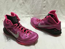 NIKE HYPERDUNK 2014 THINK PINK KAY YOW BREAST CANCER 653640-606 SIZE 10 RETRO