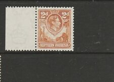 Northern Rhodesia 1938 2d Yellow Brown MM marginal SG 31
