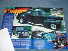 "1940 Chevy 2-Door Coupe Vintage Street Rod Article ""Ol' Black Magic"""