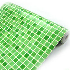Green Mosaic Tile Effect Self Adhesive Wallpaper Vinyl Walls Covering Kitchen