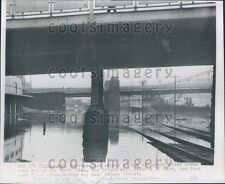 1955 Allegheny River Waters Flood North Side Pittsburgh PA Press Photo