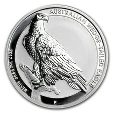 AUSTRALIA WEDGE TAILED EAGLE - 2017 1 oz BU Silver Coin in Capsule