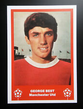 MANCHESTER UNITED - GEORGE BEST - VINTAGE BIRTHDAY 'FOOTBALL CARD' / GIFT TAG