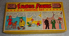 old Printing Set game Favorit Funnies comic characters orphan Annie Dick Tracy