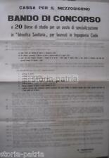 MERIDIONE_INGEGNERIA_SANITARIA_IDRAULICA_CONCORSO_BORSE DI STUDIO_MANIFESTO_1955