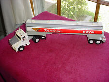 "1993 EXXON GAS Rely On The Tiger Fuel Tanker Truck Model 14"" Long Rubber Tires"