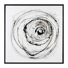 "Abstract Vortex Black White 41""  Painting Wall Art 