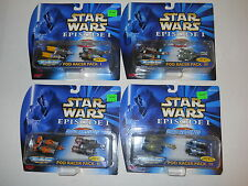 1998 Galoob Micro Machines Star Wars Episode I Pod Racing Pod Racer Pack I-4 NEW