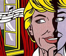 "ROY LICHTENSTEIN ""SOUND OF MUSIC"", XXXL 2mx1,5m !!!, HANDGEMALT AUF LEINWAND !!!"