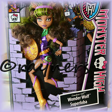New | Monster High Clawdeen Wolf Wonder Wolf Power Ghouls Doll Mattel Y7299