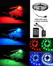 RV LED Camper Awning Boat Light Set w/IR Remote Music  RGB 16' 3528 Waterproof