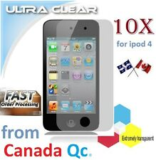 10X ULTRA clear screen protector ipod 4 4th film guard LCD shield protection NEW