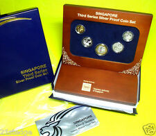 2013 NEW Singapore 3rd Series SILVER PROOF Coins Display Box Set (Limited)