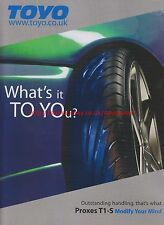 "Toyo Proxes T1-S ""What's It To You?"" 2003 Magazine Advert #7683"