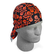 Henry Ever Red Black Doo Rag Headwrap Skull Crossbones Biker Cap Biker Durag ATV