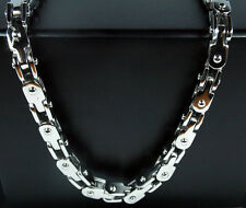 """Men 316L Stainless Steel Silver Cool Bike Fashion Link Chain Necklace 22""""*5mm"""