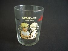 REIMS FRANCE VMC-SHOT GLASS -GEMEAUX -EXIGENCE,INTELLIGENCE -ASTROLOGY