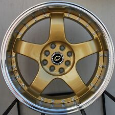 17X7.5 G803 WHEELS 4X100/114.3 GOLD RIM FIT 4 LUG CIVIC ACCORD INTEGRA NEON