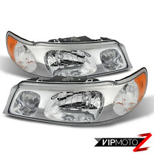 1998-2002 Lincoln Town Car Chrome Front LEFT RIGHT Headlights Headlamp Assembly