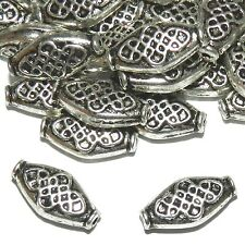 MB7213L2 Rimmed Marquise 15mm Antiqued Silver Metal Alloy Beads 25/pkg