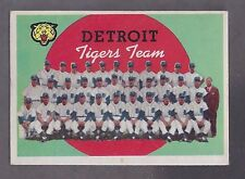 1959 Topps #329 Detroit Tigers Team Card EX Plus (Unmarked)