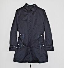 Kinloch Anderson Scotland Women's Black Rain Trench Coat Small Medium
