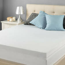 King Mattress Topper Memory Foam Pad Cover Protector Matress Bed White 3 Inch