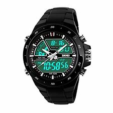 Skmei Chronograph Analogue Digital Sport Black Dial Watch For Men !!