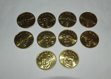 10 Coin Set Brass Slammer MLB 1992 Sports Stars Collectors Coins Wade Boggs