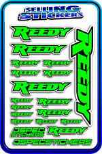 REEDY RC STICKERS DRIFT TOURING MOTOR ESC BATTERY AE 1/12 1/10 RACE GREEN BLACK