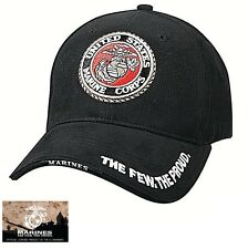 US Marine Corps Ball Cap USMC Vet The Few The Proud Korea Vietnam OEF OIF Hat
