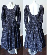 Laura Ashley Elizabethan Steampunk VTG Needlecord Velvet Medieval Gothic Dress S