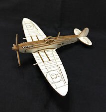 Laser Cut Wooden WW2 Spitfire 3D Model/Puzzle Kit