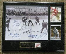 Detroit Red Wings 1st NHL Winter Classic @ Marquette Prison 1954 Photo Plaque !