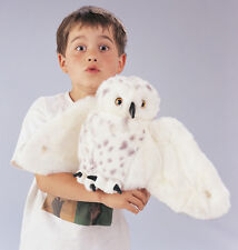 *NEW* PLUSH SOFT TOY Folkmanis Snowy Owl Full Hand Puppet with Rotating Head