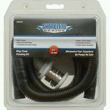 "3/4"" Inch Hose Bilge Pump Installation Kit for Boats - Hose, Thru Hull, & Clamps"