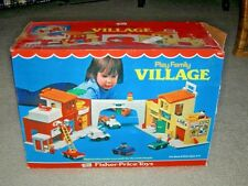 Vintage Fisher Price Play Family Village 997 1973