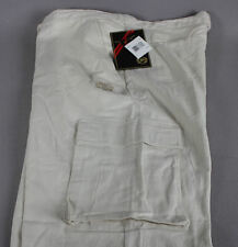 New! Men's Size 38 PHAT FARM CLASSICS ORIGINAL Ivory Linen Blend Cargo Pants