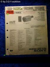 Sony Service Manual CCD TR2200E / TR2300E / TR3300 (#3539)