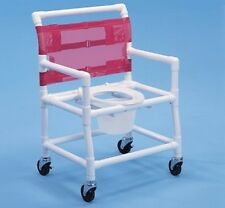 HEALTHLINE -  #SC6014XBP  PVC SHOWER COMMODE CHAIR (EXTRA WIDE-BAR IN BACK)