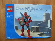 LEGO NOTICE KNIGHTS KINGDOM SANTIS 8773
