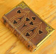 1855 Victorian Book Of Common Prayer Embossed Leather Binding With Brass Clasp