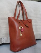 Fossil Austin Leather Tote Shopper Shoulder Bag with Large Key, Work Uni