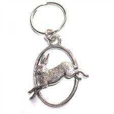 Hare Leveret PEWTER KEY RING FOB CHAIN BAG CHARM Christmas BIRTHDAY PRESENT