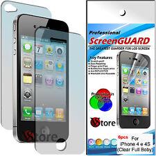 6 Pellicola Per iPhone 4S/4/4G Proteggi Display Pellicole 3 Fronte + 3 Retro